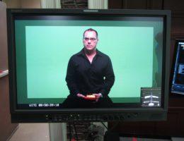Bob Bekian on camera Green Screen