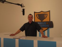 Bob Bekian on set prius commercial