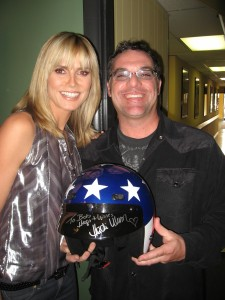 Bob Bekian with Heidi Klum McDonald's Commercial Producer